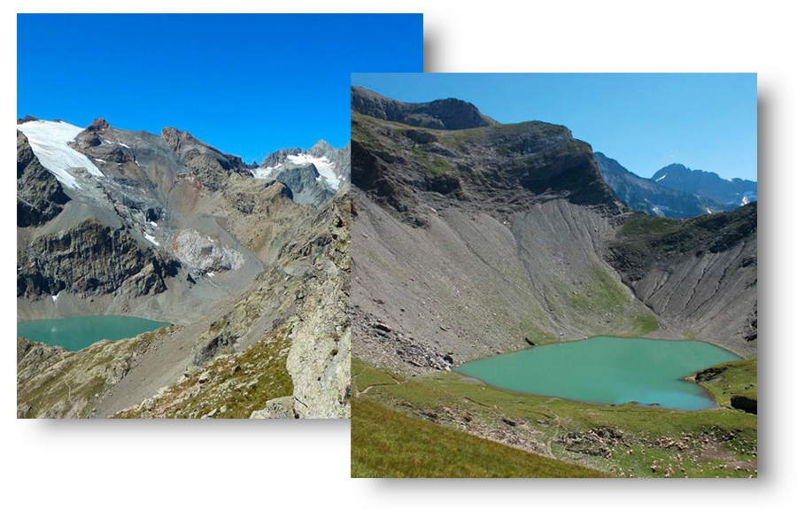 Lac de l'Eychauda_Lac polaire@Parc National des Ecrins - Thierry MAILLET. Lac Labarre_Lac polaire@Parc National des Ecrins - Bernard NICOLLET